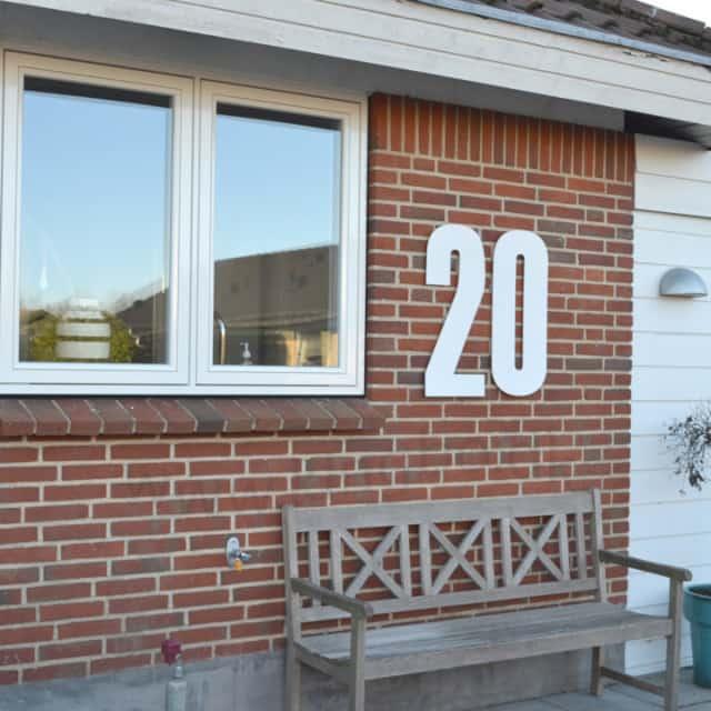 hvide husnummer