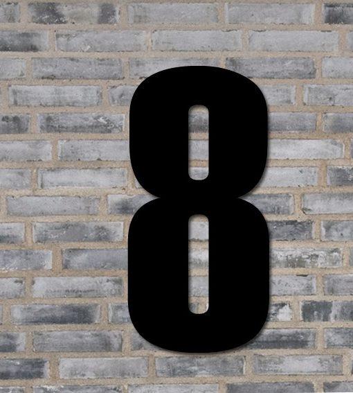 husnummer i sort 8 tal