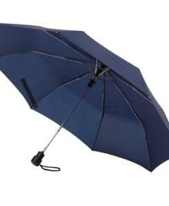 taskeparaply navy blå automatisk