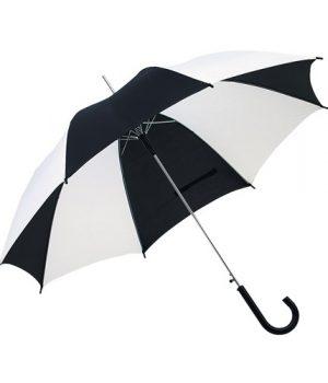Sort - Hvid paraply