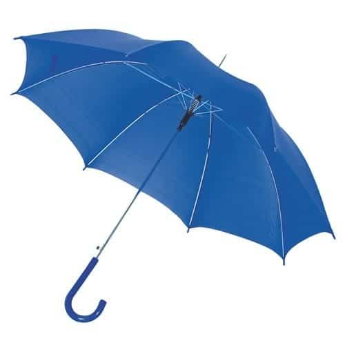 blå paraply blå buet skaft