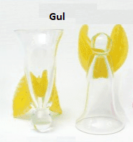 engle glas gul