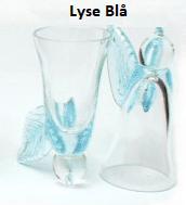 lyseblå engle glas