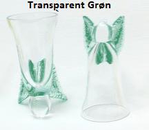 Snaps engle transparent grøn