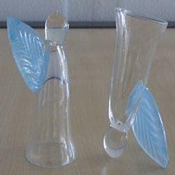 Snapseengel lyse blå glas