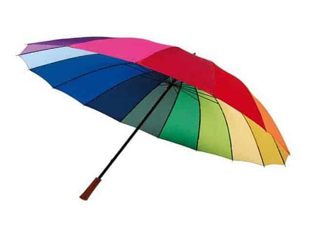flerfarvede paraply