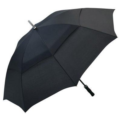 sort golfparaply med dobbelt skærm
