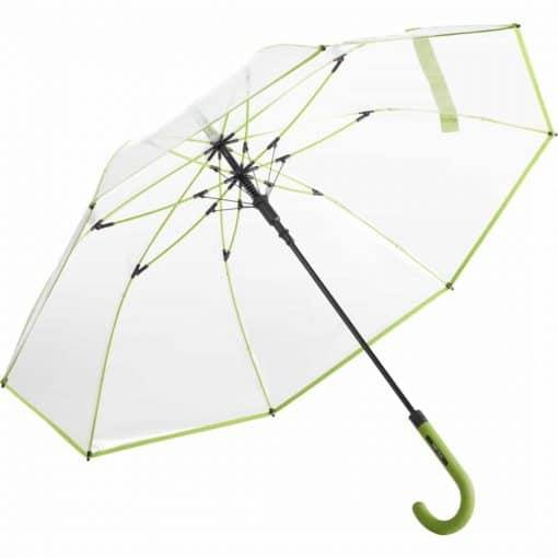 Lime farvet gennemsigtig paraply