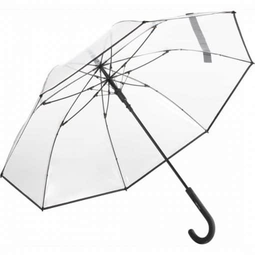 Stor sort transparent paraply