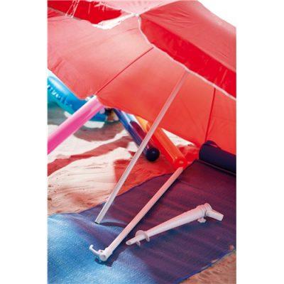 rød strand parasol