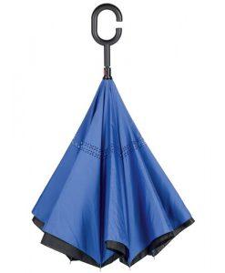 blå omvendt paraply
